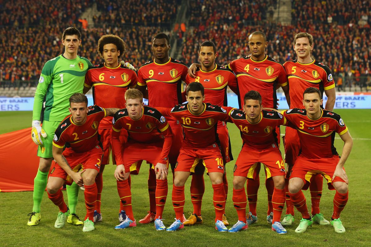 Very nearly the complete Belgium starting 11. Condolences to a certain Mr. Benteke.