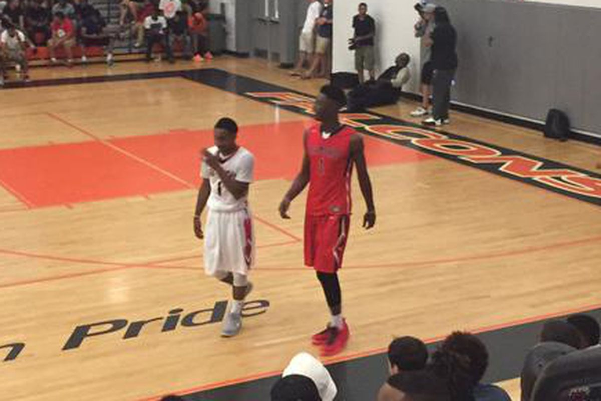 Wake Forest recruits Brandon Childress and Harry Giles compete at the Josh Level Classic