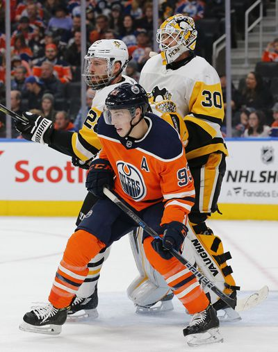 NHL: Pittsburgh Penguins at Edmonton Oilers