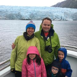 Amy Choate-Nielsen and her family saw glaciers in Prince William Sound near Whittier, Alaska.