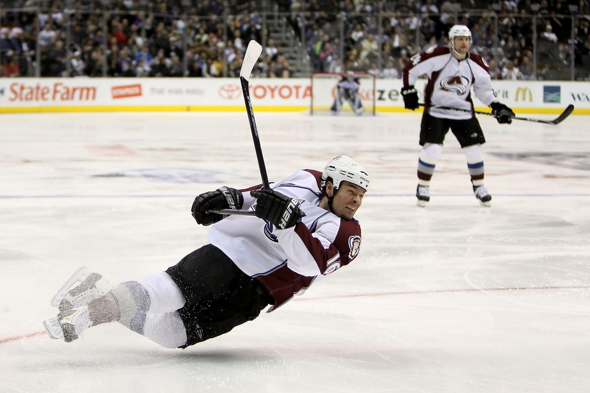 Why is Darcy Tucker falling down in this picture? Because some stats are silly. You'll see