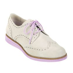 """<b>Cole Haan</b> LunarGrand Wingtip in ivory suede/larkspur, <a href=""""http://www.colehaan.com/colehaan/catalog/product.jsp?catId=100&productId=726897&productGroup=726769"""">$198</a>"""
