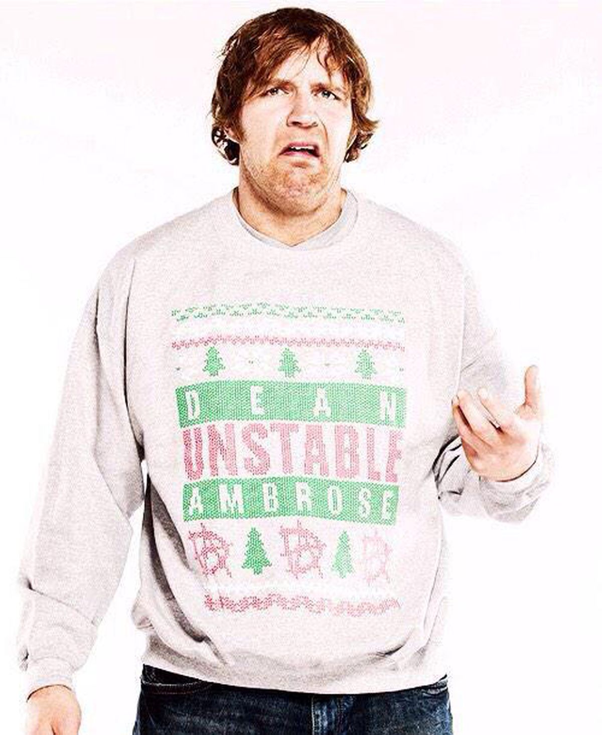 Pic: Dean Ambrose in his ugly Christmas sweater - Cageside Seats
