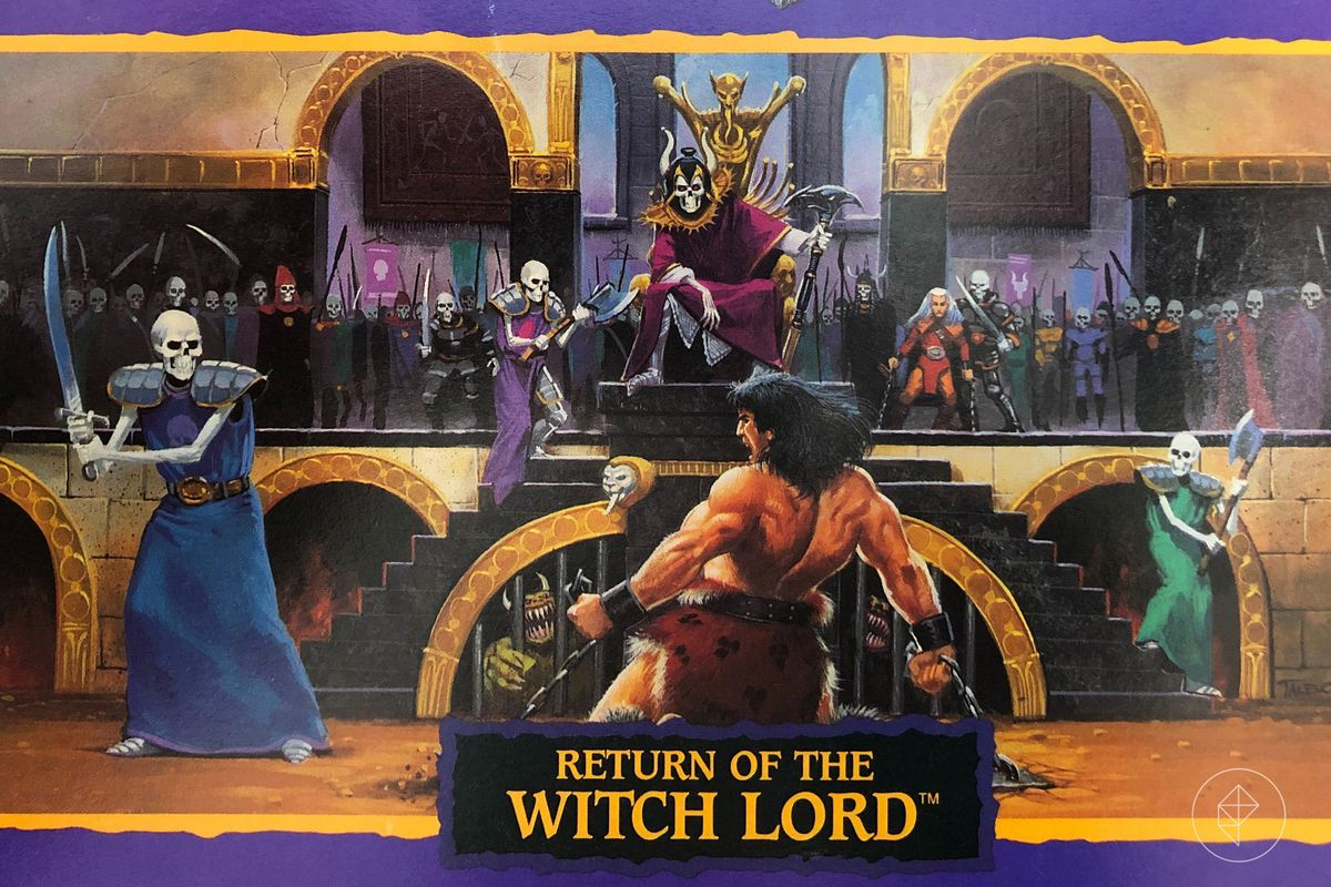 An image from the Quest Book for the HeroQuest expansion Return of the Witch Lord.
