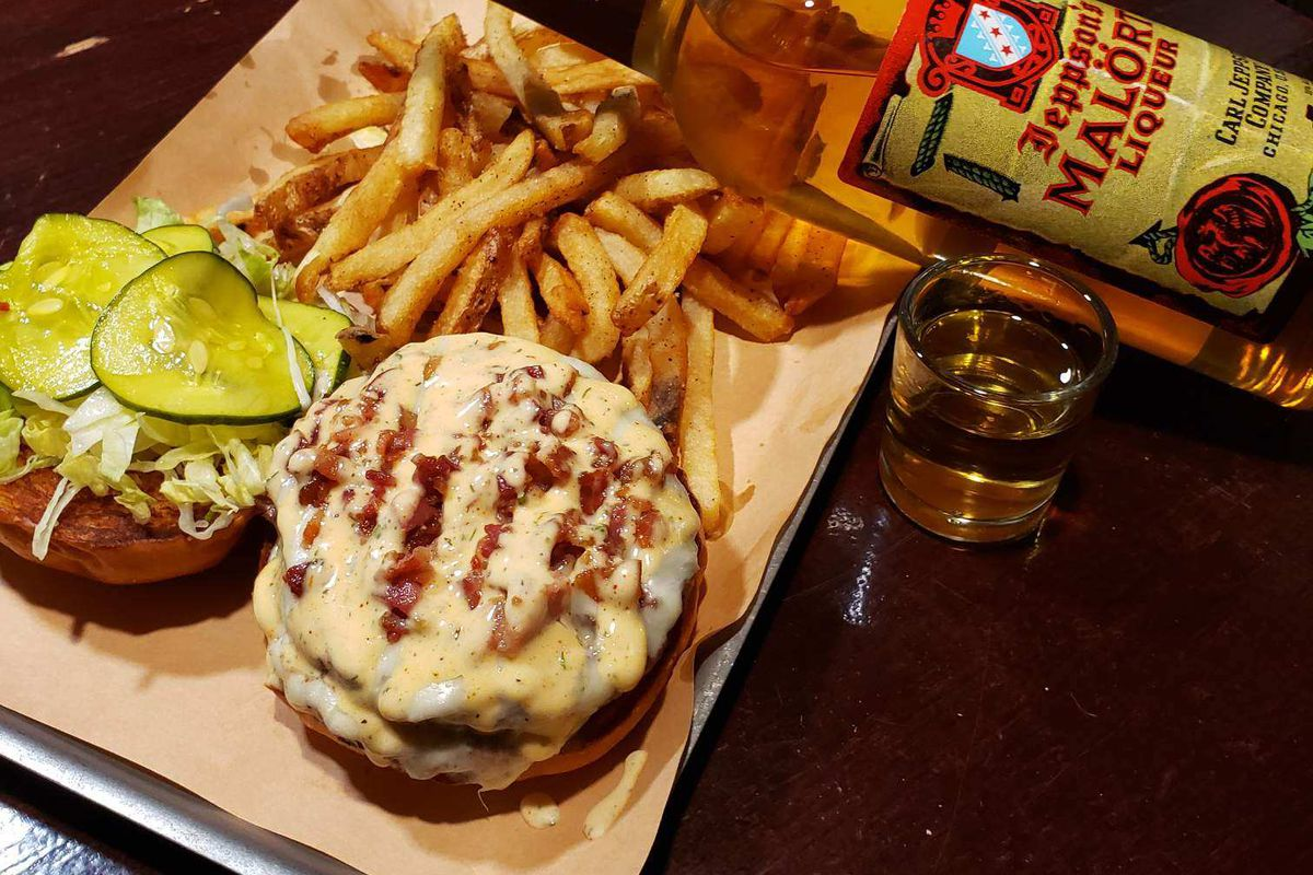 Commodore's signature Shlogan burger returns in its new Dupont Circle location.
