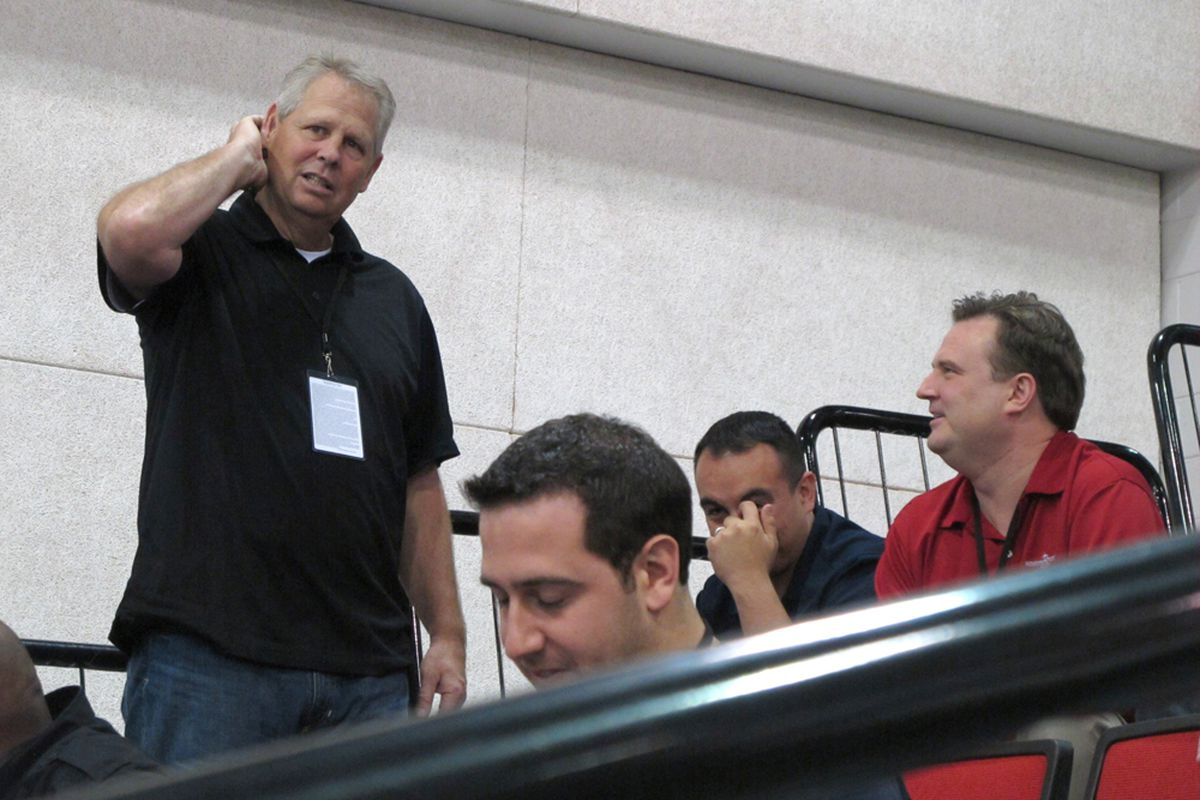 Even Danny Ainge seems confused by all this. - Photo credit: Alexander Young (LolaSportsTalk)