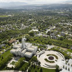 Lightning struck the Moroni statue on the LDS Bountiful Temple around 2 p.m. in Bountiful on Sunday, May 22, 2016.