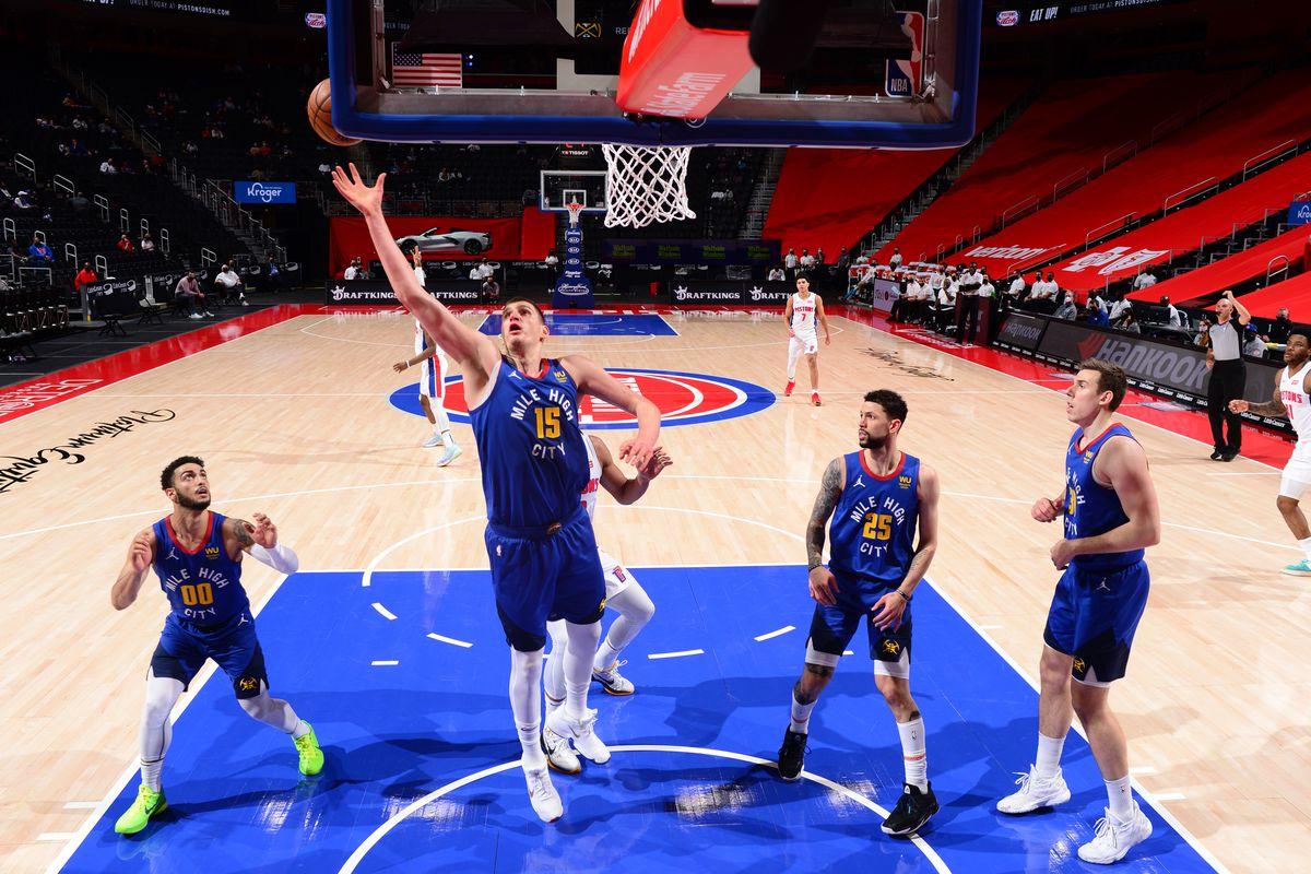 Denver Nuggets v Detroit Pistons