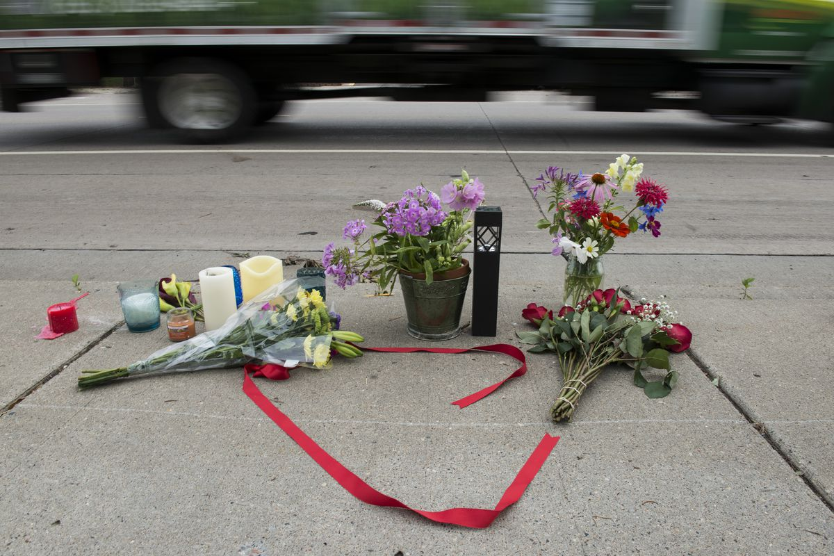 A memorial left for Philando Castile following his death via police shooting on July 7, 2016, in St. Paul, Minnesota.