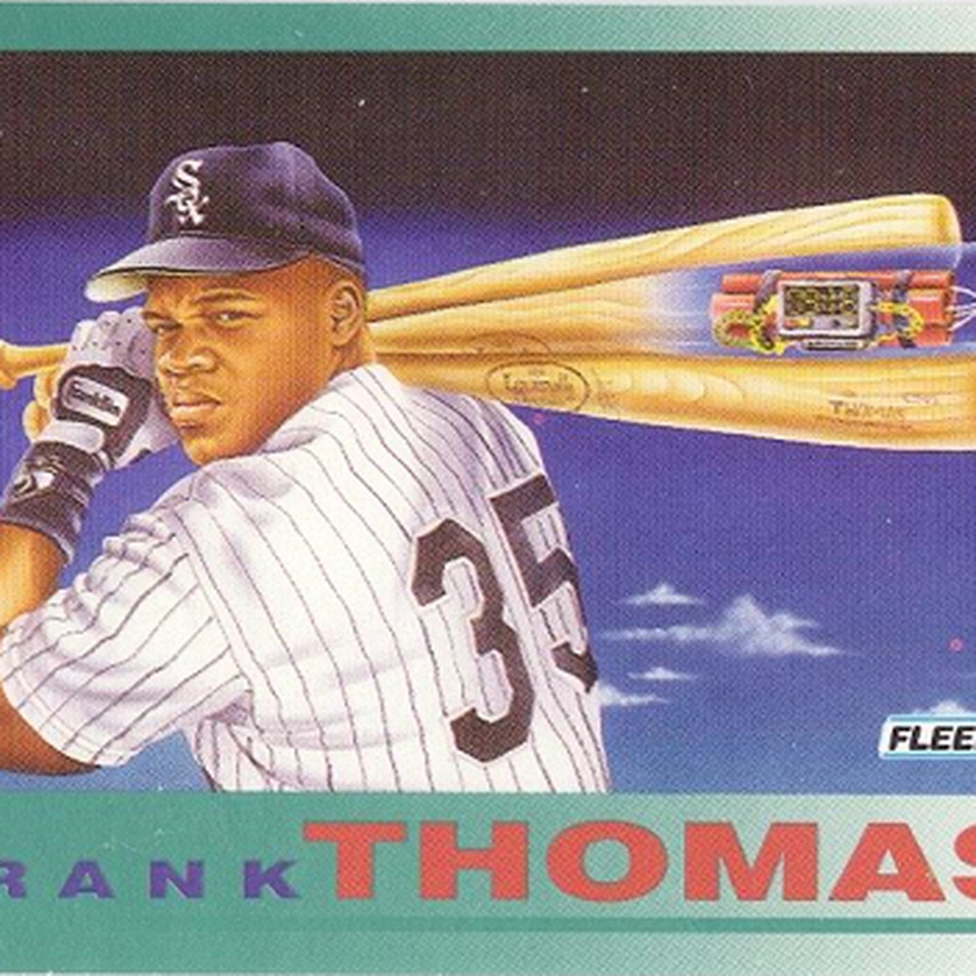 Frank Thomas The First Baseball Card Bubble Hall Of Famer