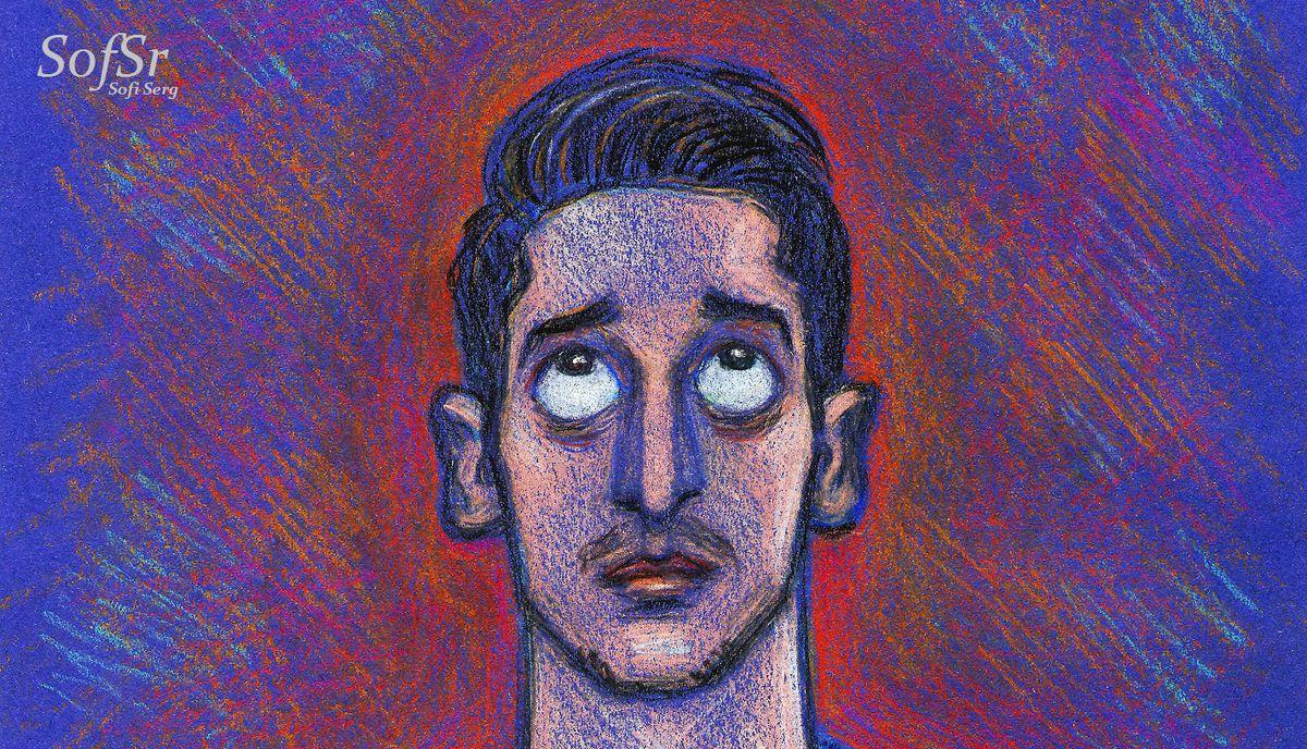 Mesut Ozil. Illustration by Sofi Serg.