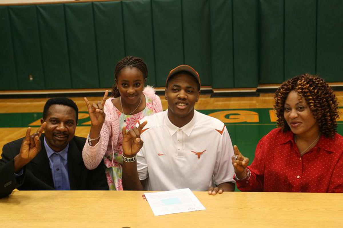 Class of 2012 recruit Prince Ibeh signs with the Texas Longhorns to play basketball.