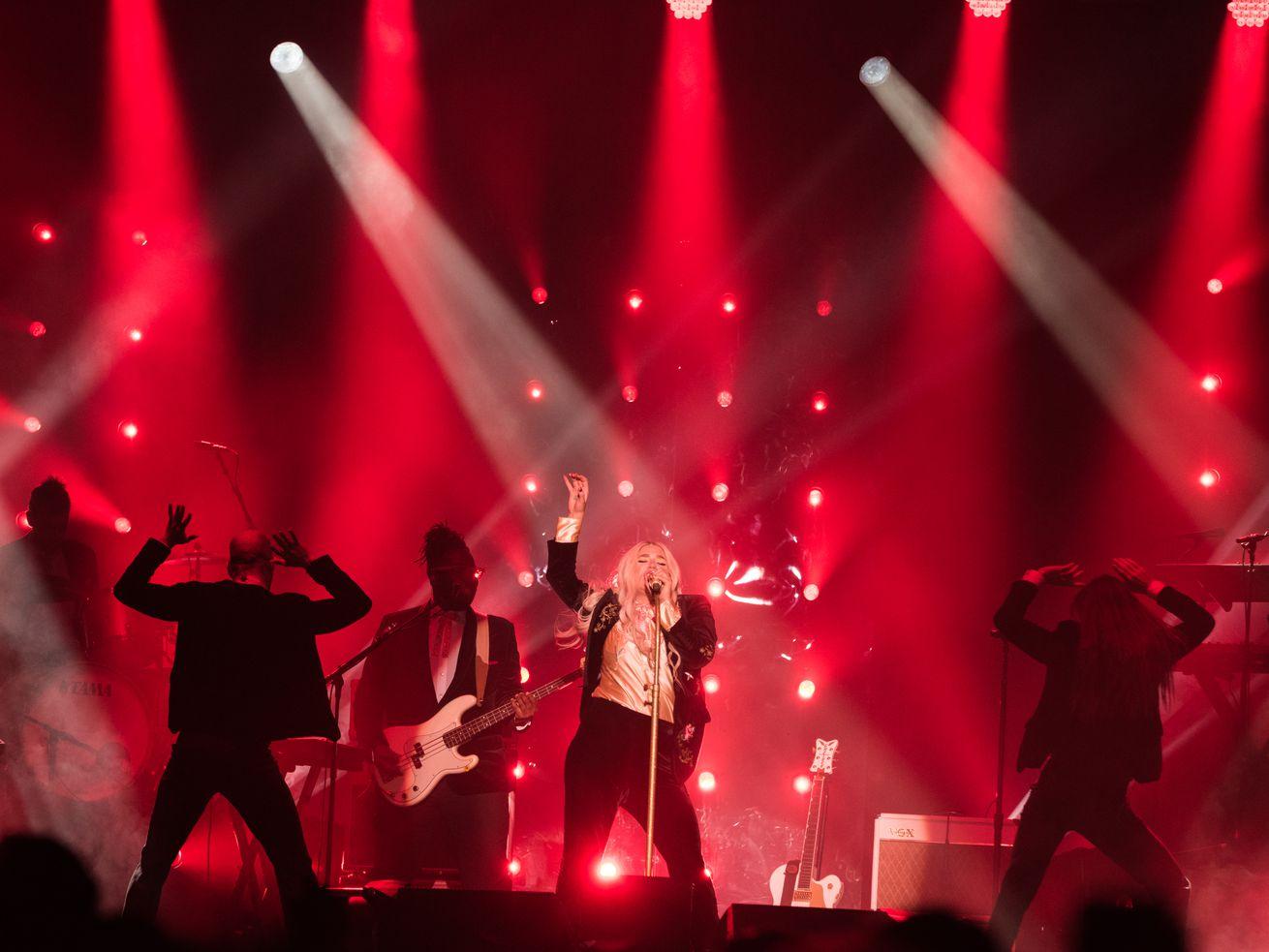 Kesha performs at the Aragon Ballroom in 2017.