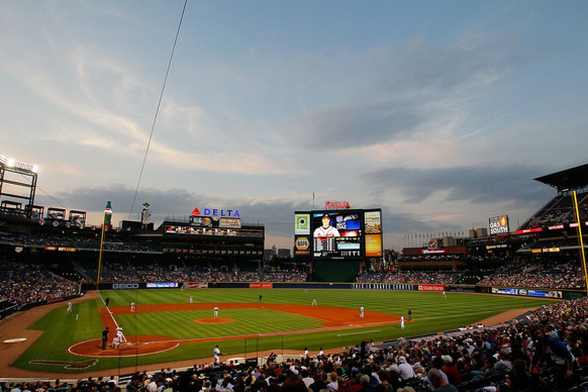 ATLANTA - APRIL 22:  A general view of Turner Field during the game between the Philiadelphia Phillies and the Atlanta Braves at Turner Field on April 22, 2010 in Atlanta, Georgia.  (Photo by Kevin C. Cox/Getty Images)