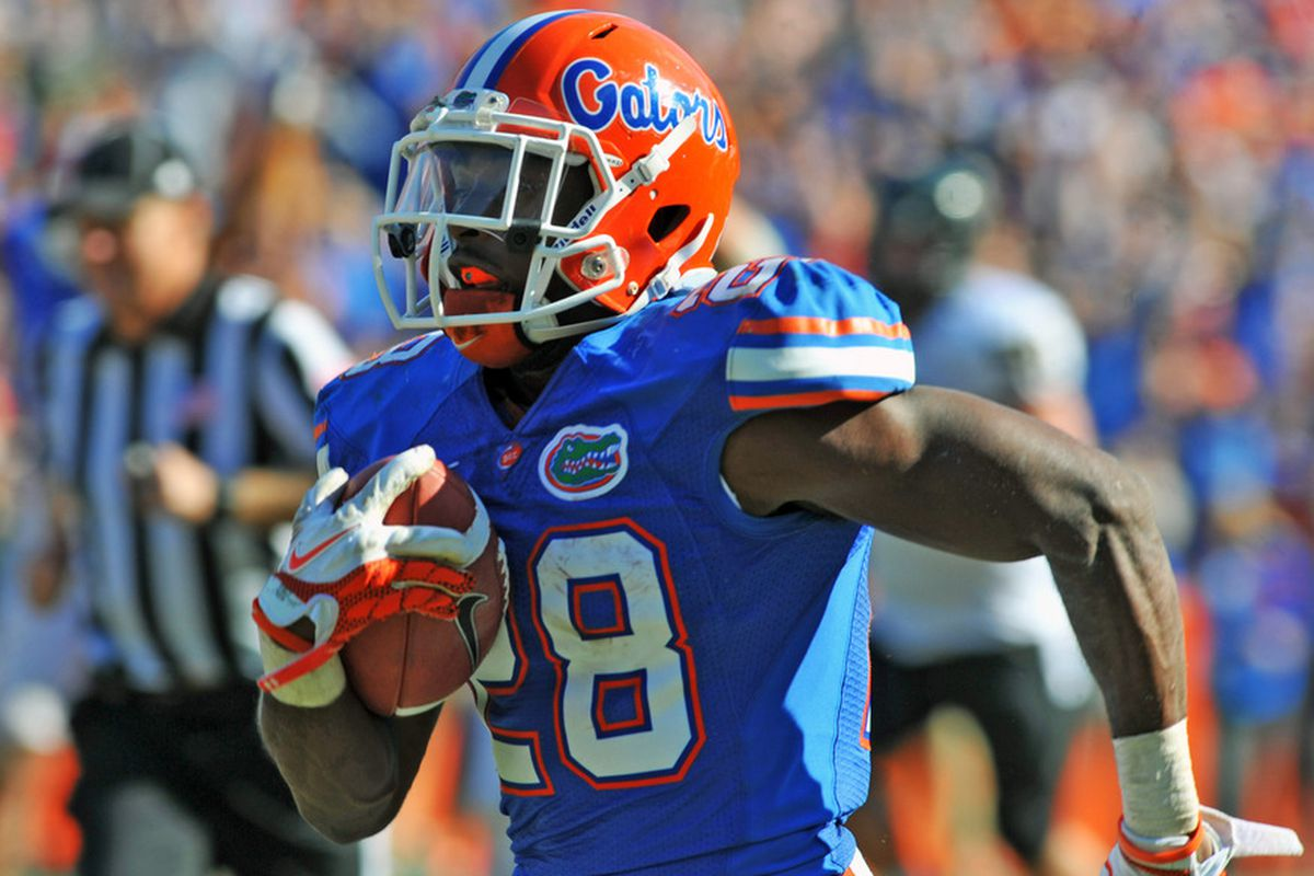 Florida's Jeff Demps is running in the men's 4x100m relay for the US.