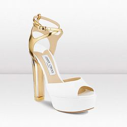 """Add this white-hot number to the top of your must-list. Lolita, $1,295 at <a href=""""http://us.jimmychoo.com/en/us/lolita/invt/123lolitawpmp"""">Jimmy Choo</a>."""