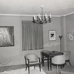This Nov. 21, 1963 photo provided by the Amon Carter Museum of American Art Archives, shows the living area of Suite 850 at the Hotel Texas, in Fort Worth, Texas. An exhibit opening next year at the Dallas Museum of Art will feature almost all of the works of art gathered from museums and prominent Fort Worth citizens for the hotel suite John F. Kennedy and first lady Jacqueline Kennedy stayed in the night before he was assassinated.