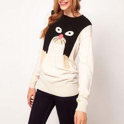 "<b>ASOS</b> Cat sweater in cream, <a href=""http://us.asos.com/ASOS-Cat-Sweater/yp7vw/?iid=2389594&cid=15160&sh=0&pge=1&pgesize=200&sort=-1&clr=Cream&r=2&mporgp=L0FTT1MvQVNPUy1DYXQtSnVtcGVyL1Byb2Qv"">$56.29</a>"