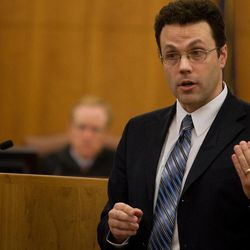 Defense attorney Stephen Howard gives his opening statement to the jury on the first day of Martin Bond's trial in 4th District Court in American Fork Wednesday, Jan. 16, 2013. Bond is accused of killing former BYU professor Kay Mortensen in November 2009.