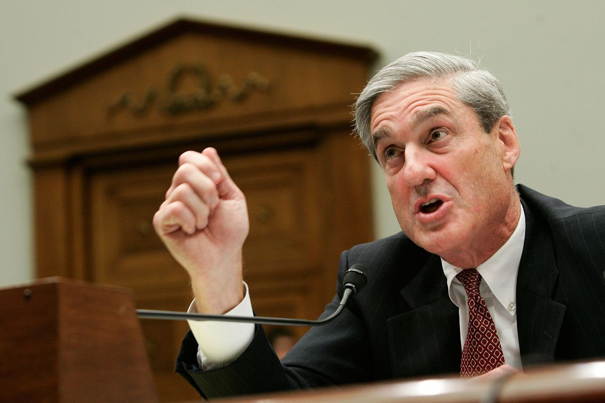 Special counsel Robert Mueller testifies during a hearing before the House Judiciary Committee July 26, 2007 on Capitol Hill in Washington, DC.