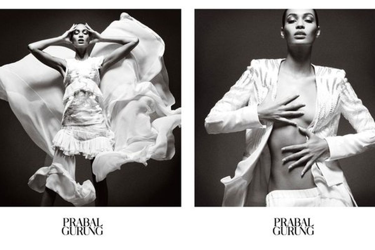 """Image via <a href=""""http://nymag.com/thecut/2013/01/joan-smalls-meets-wind-machine-for-prabal-gurung.html"""">The Cut</a>"""