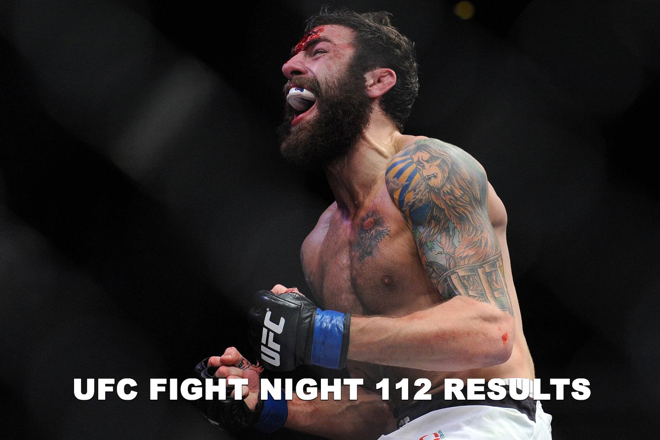 UFC Fight Night 112 live results stream, Chiesa vs Lee play by play updates