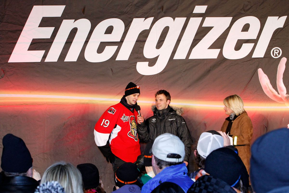 Who was it again that sponsored the outdoor fan thing with Spezza last night?