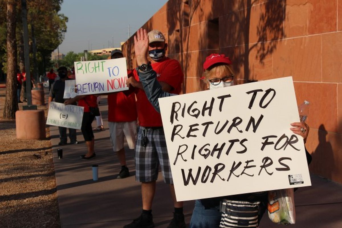 Culinary Union members fight for the right to return to their jobs