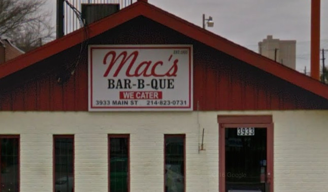 Open Since 1955 Mac S Barbecue Has Been Smoking At This Location 1982 Serving Up The Kind Of Cue That You D Expect Your Grandma To Make