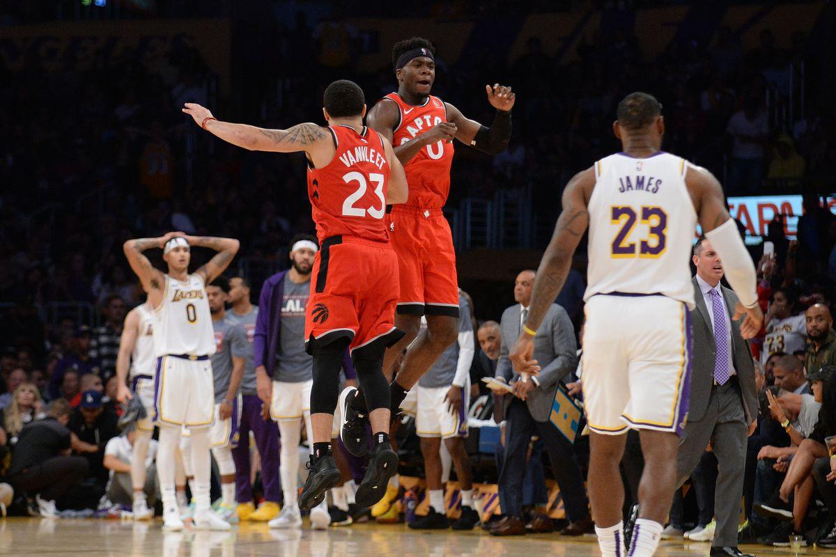 NBA: Toronto Raptors at Los Angeles Lakers