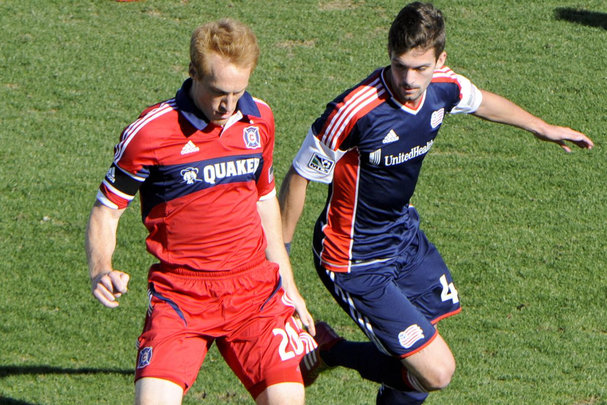 The 2014 Fire conceptualize Jeff Larentowicz as a midfield controller - not playmaker, not destroyer, but the team's responsible Mind.