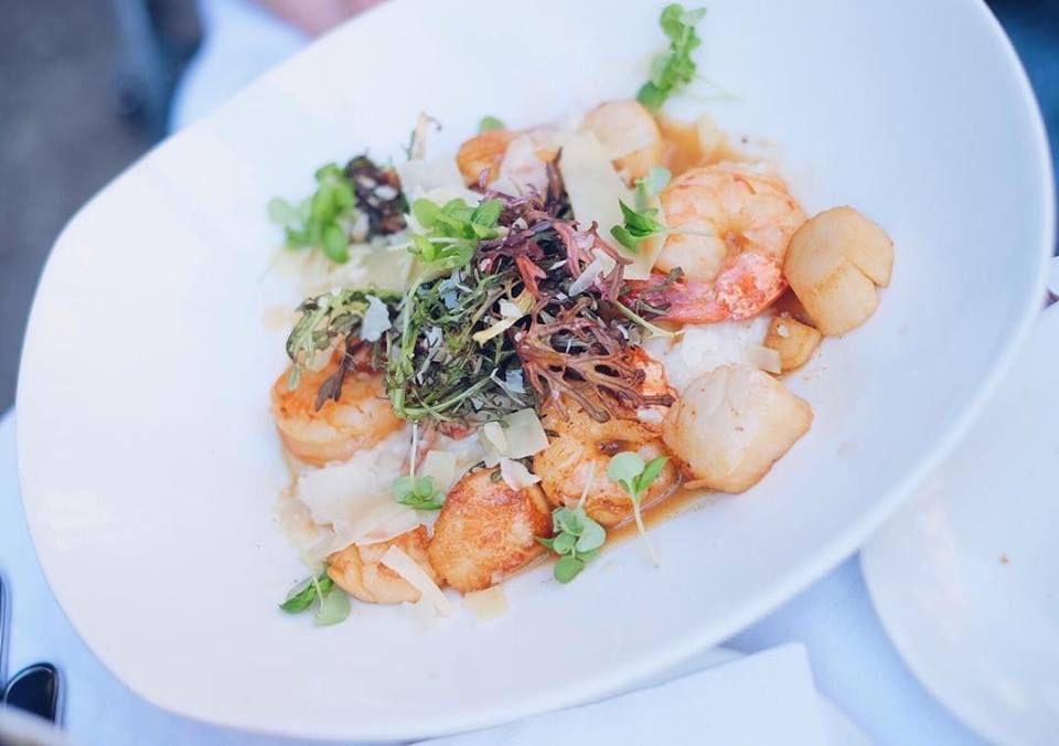 Shrimp and scallops at Atlantic Fish Co.