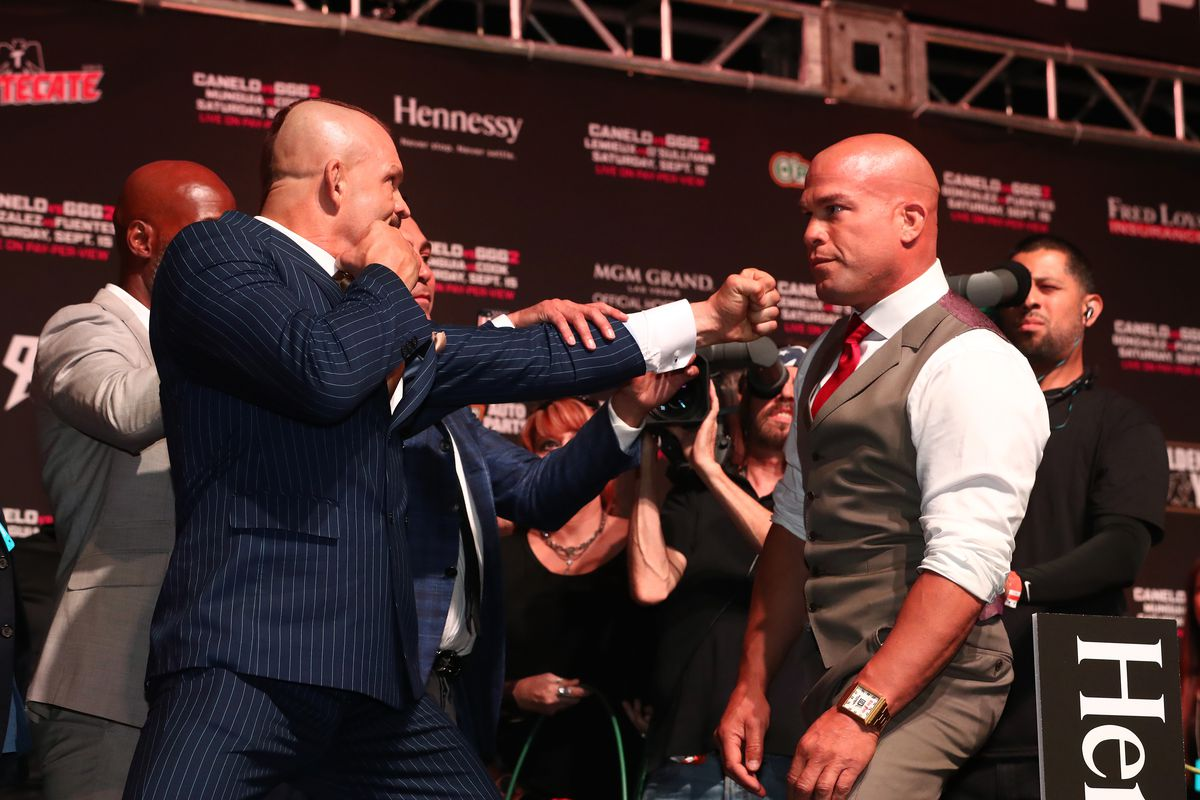Gennady Golovkin v Canelo Alvarez: Weigh-in