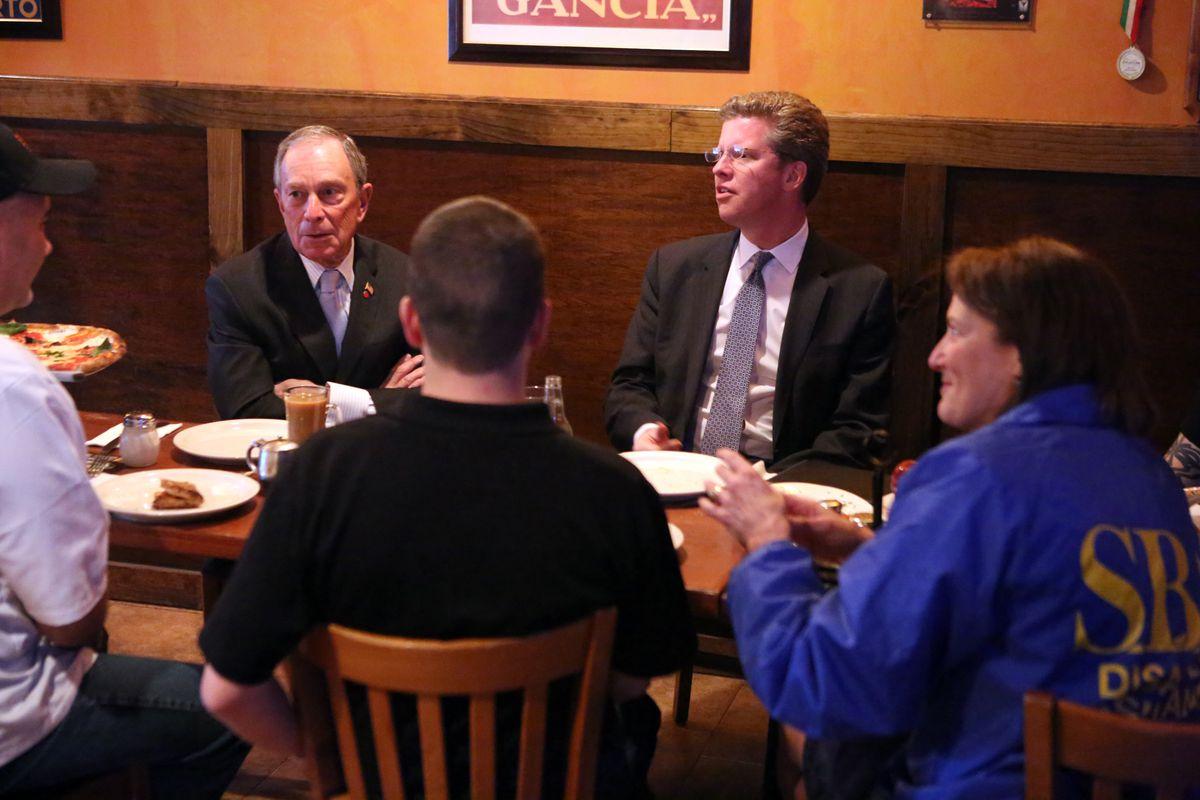 HUD Secretary Shaun Donovan speaks with Mayor Bloomberg about Hurricane Sandy recovery, Feb. 6 , 2013.