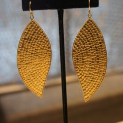 Anna Beck Gold Leaf Earrings<br />Could these Anna Beck leaf earrings be any cooler? So boho chic and handmade in Bali.<br />Originally $300, With the 60% off $120