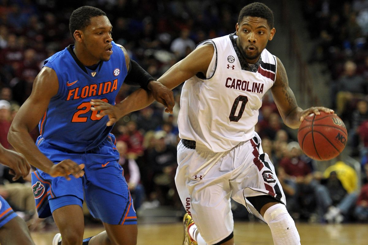 Sindarius Thornwell driving to the hoop on Tuesday night.