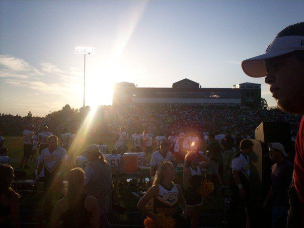 The visitors' view in the first half at Gardner-Webb