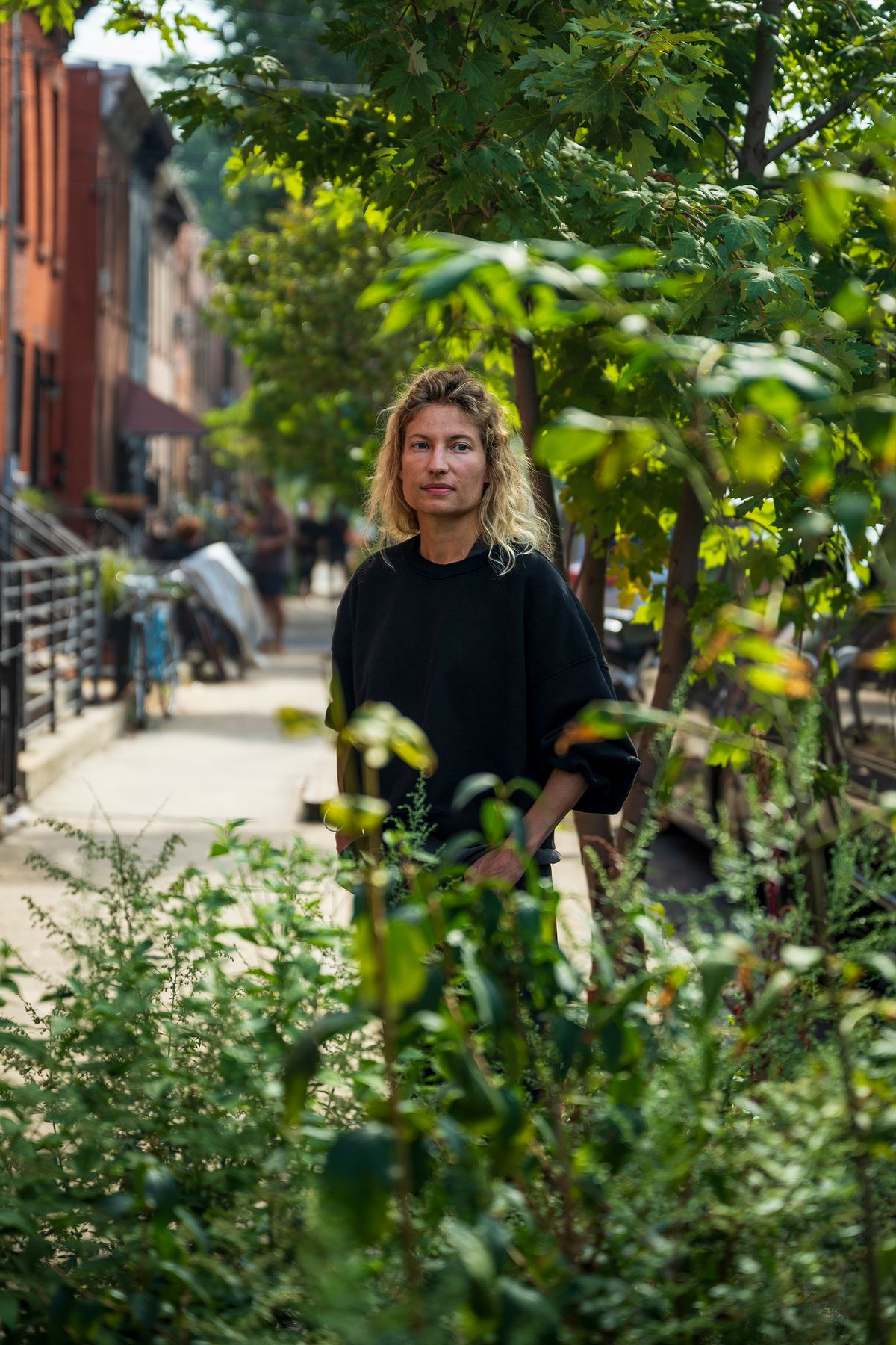 Carly Baker-Rice suffered damage to her Red Hook basement apartment during Hurricane Ida, Oct. 8, 2021.