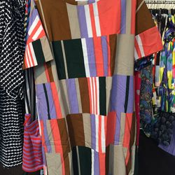 Woven dress, size 40, $120 (from $258)