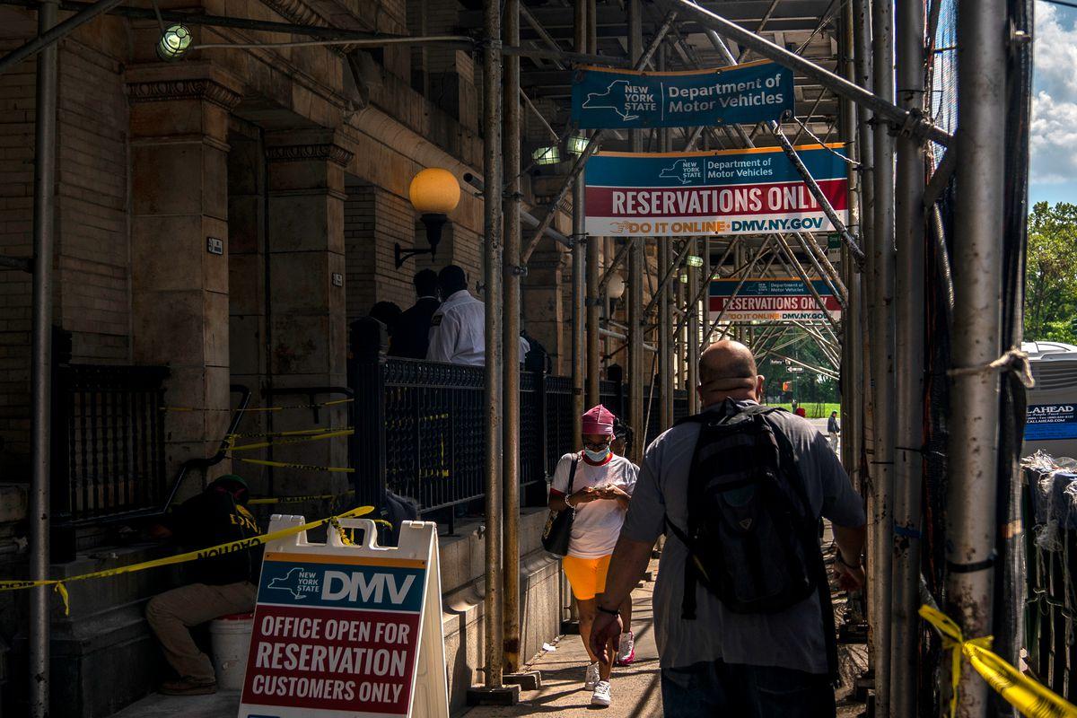 The DMV at 11 Greenwich St. in Lower Manhattan, Aug. 21, 2020.
