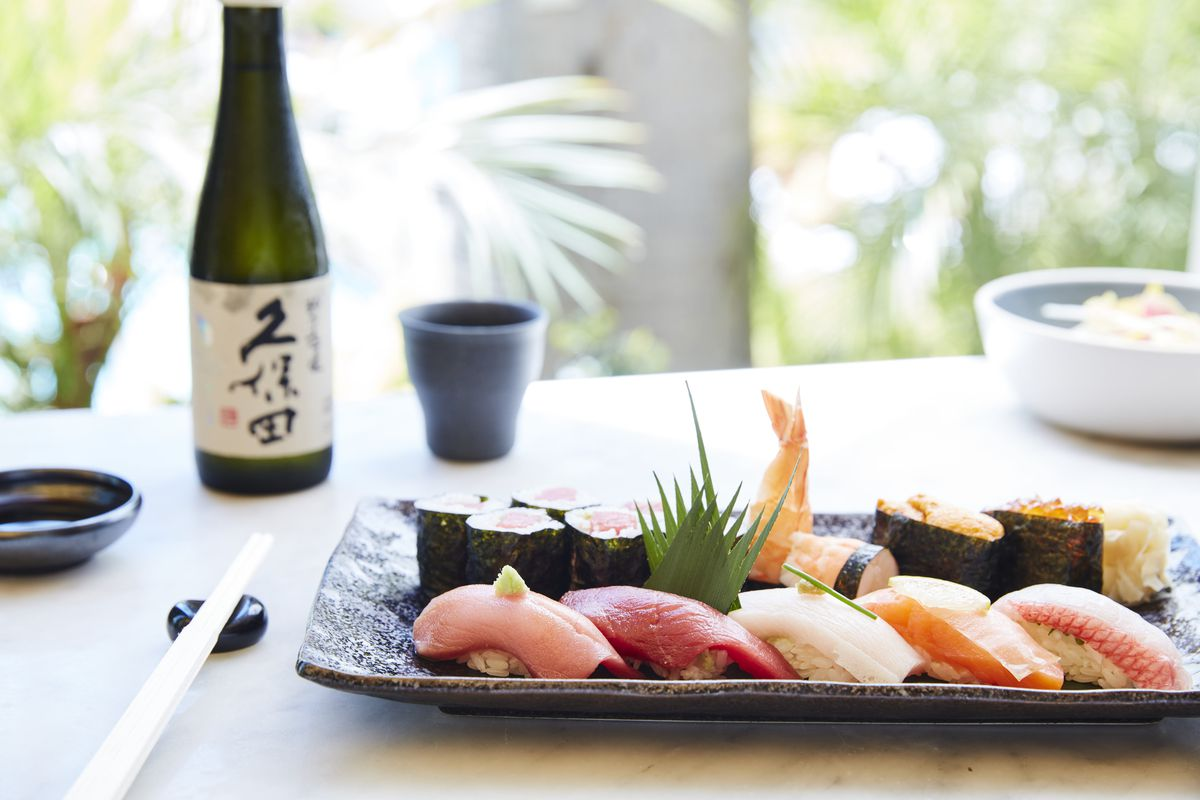 Sushi and sake at Soko in Santa Monica.