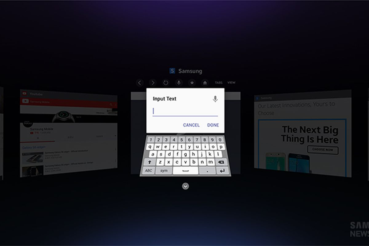 b8268a240e8d Samsung is launching a Gear VR web browser - The Verge