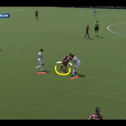 Soffia leaves Pedersen and Serie A MVP Cristiana Girelli in the dust with a 180-turn on the ball.
