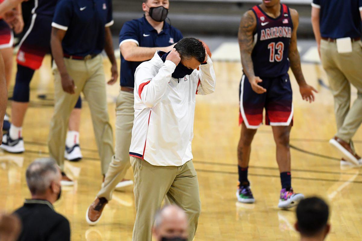 sean-miller-arizona-wildcats-streak-pac12-basketball-postgame-interview-rebounding-kriisa-2021