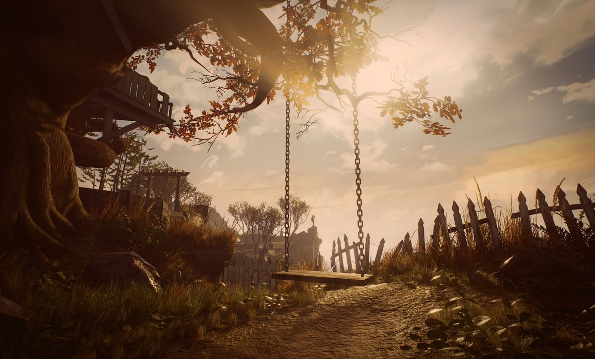 A swing in What Remains of Edith Finch