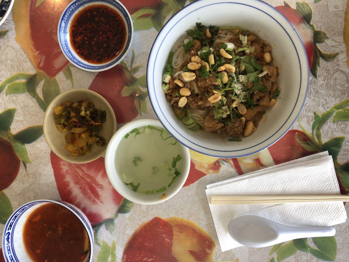 Shan noodles at ledu