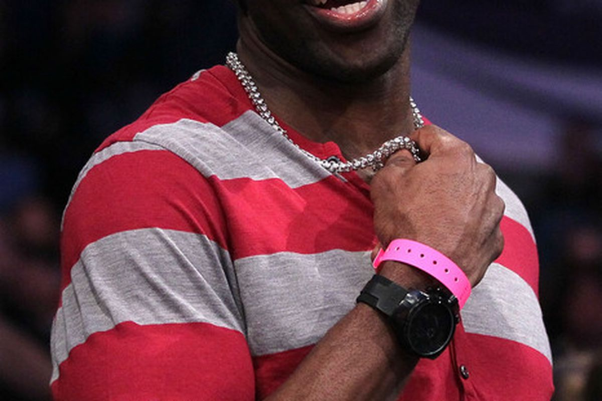LOS ANGELES CA - FEBRUARY 19:  NFL player Terrell Owens attends NBA All-Star Saturday night presented by State Farm at Staples Center on February 19 2011 in Los Angeles California.  (Photo by Kevork Djansezian/Getty Images)
