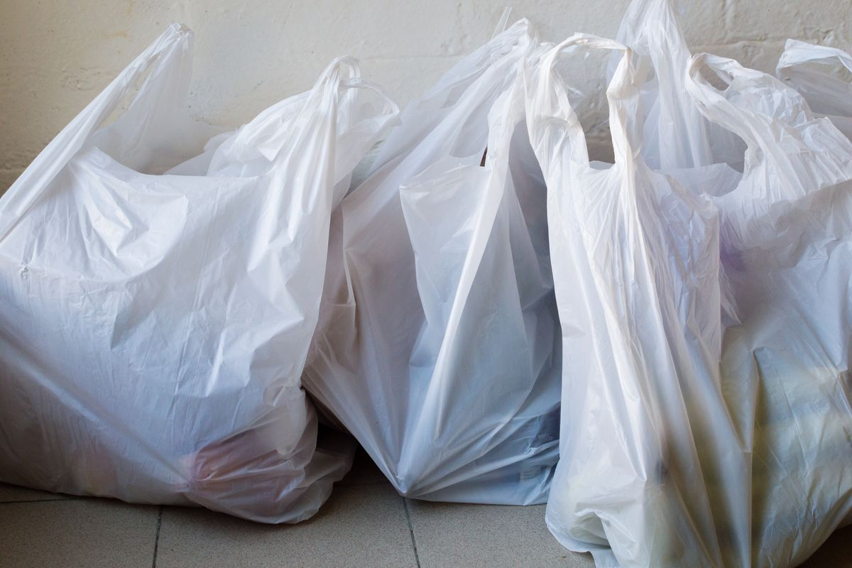 All types of plastic bags — from grocery bags to garbage bags — are no longer allowed in Salt Lake City's blue recycling bins.