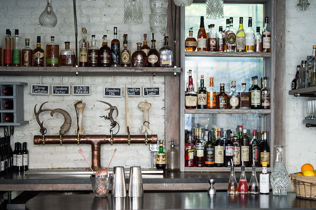 [The bar at Root & Bone in the East Village]