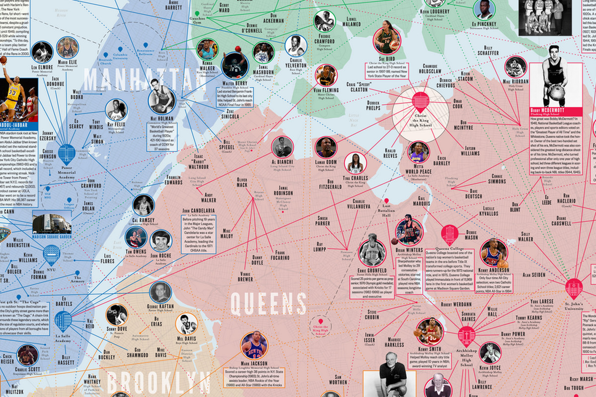 Map Of New York 1800.The Nba Made An Amazing Interactive Map Of New York S Basketball